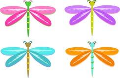Mengeling van Kleurrijke Libellen Royalty-vrije Stock Afbeeldingen