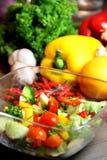 Mengeling van mooie, verse, levendige groenten Stock Afbeelding