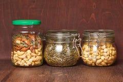 Mengeling van noten en zaden Stock Foto