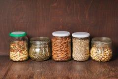 Mengeling van noten en zaden royalty-vrije stock fotografie