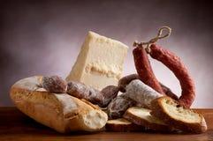 Mengeling van salami royalty-vrije stock foto's