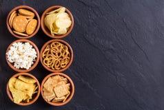 Mengeling van snacks royalty-vrije stock afbeeldingen