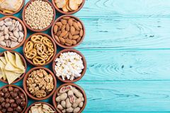 Mengeling van snacks royalty-vrije stock fotografie