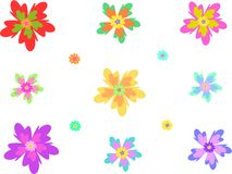 Mengeling van Tropische Bloemen vector illustratie