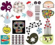 Mengeling van verschillende beelden en pictogrammen. vol.67 Royalty-vrije Stock Foto