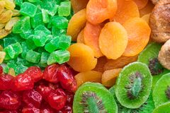 Mengeling van verschillende droge vruchten royalty-vrije stock afbeelding