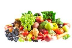 Mengeling van vruchten en groenten Stock Foto's