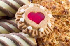 Mengeling van zoete koekjes Stock Foto's