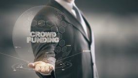 Mengen-Finanzierung mit Hologrammgeschäftsmannkonzept lizenzfreie abbildung