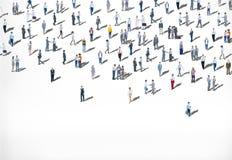 Mengen-große Gruppe von Personenen-multiethnisches Verschiedenartigkeits-Konzept stockbild