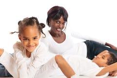 Mengen-rasfamilie Stock Afbeelding