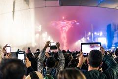 Mengenschmierfilmbildung an einem Ereignis stockfotos