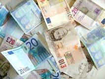Mengsel van geld Stock Afbeeldingen