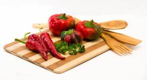 Mengsel van Spaanse pepers en paprika Royalty-vrije Stock Afbeeldingen