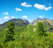 Mengusovska Valley in Vysoke Tatry High Tatras, Slovakia Stock Images