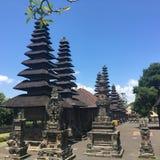 Mengwi tempel i Bali Indonesien Arkivbilder