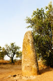 Menhir in Almendres Stock Images