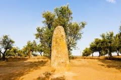 Menhir in Almendres, Portugal Lizenzfreies Stockbild