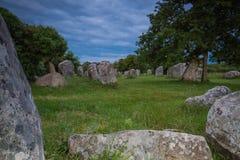 Menhir Brittany royaltyfria bilder