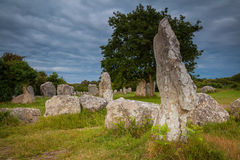 Menhir Brittany royaltyfria foton
