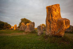 Menhir Brittany Stock Photo