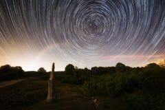Menhir d'Itaida aux montagnes d'Entzia Photographie stock libre de droits