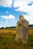 Menhir de Carnac Imágenes de archivo libres de regalías