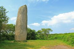 Menhir de Kerloas, Brittany, France Stock Image