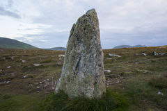 Menhir, Dingle Peninsula, Ireland. Menhir standing on the Dingle Peninsula in Ireland Stock Photography