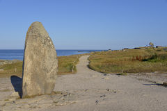 Menhir at Le Pouliguen in France Stock Photography