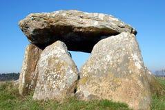 Menhir Mein Goarrec i Brittany royaltyfria bilder
