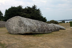 Menhir near Locmariaquer, Brittany, France Stock Images