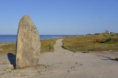 Menhir på Le Pouliguen i Frankrike Arkivbild