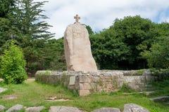 Menhir of Saint-Uzec Royalty Free Stock Photos