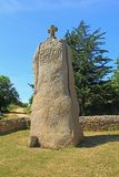 Menhir Saint Uzec, Brittany, France Royalty Free Stock Photography