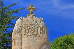 Menhir Saint Uzec Royalty Free Stock Photo