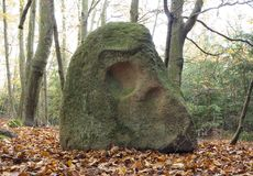 Menhir Stone Skull Royalty Free Stock Images