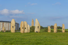 Menhirs Photographie stock