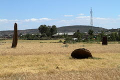 Menhirs of Aksum in Ethiopia Royalty Free Stock Photography