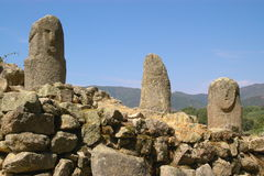 Menhirs of ancient civilization royalty free stock photography