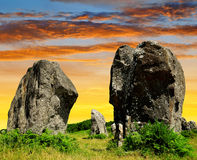 Menhirs in Carnac Stock Photography