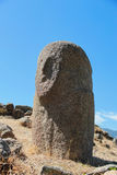 Menhirs with human faces at Filitosa archeological site Stock Images