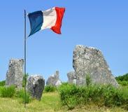 Menhirs mégalithiques de monuments dans Carnac Image libre de droits