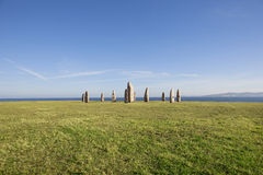 Menhirs Park at coruna Stock Image