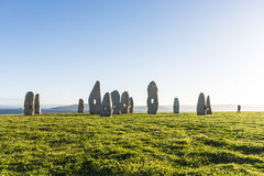 Menhirs park in A Coruna, Galicia, Spain Royalty Free Stock Images
