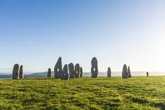 Menhirs park in A Coruna, Galicia, Spain Royalty Free Stock Photo