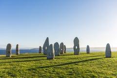 Menhirs park in A Coruna, Galicia, Spain Royalty Free Stock Photos