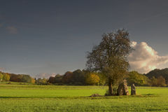 Menhirs in the sun Royalty Free Stock Image