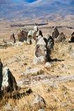 Menhirs of Zorats Karer - monument in Armenia Royalty Free Stock Photo