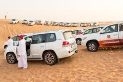 Menigte in de woestijn Stock Foto's